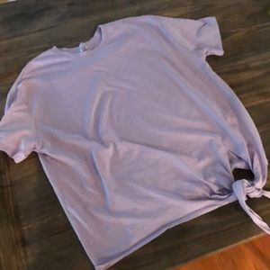 Cute Zara Lavender Top with knot tie. Large.
